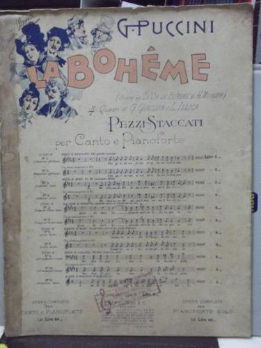 partitura la bohéme g. puccini -  canto piano pz10