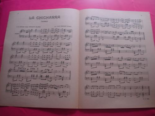 partitura - la chicharra - tango para piano por juan maglio