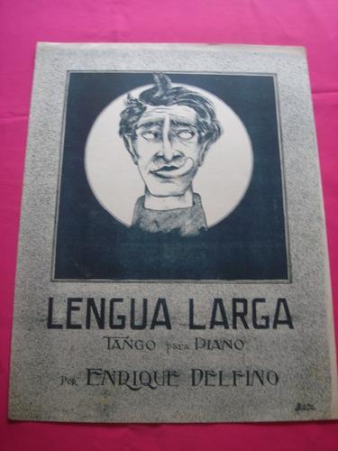 partitura - lengua larga - tango para piano enrique delfino