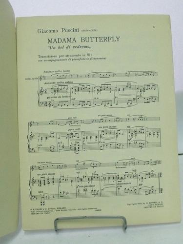partitura madama butterfly  puccini edição italiana