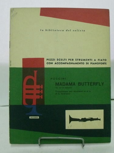 partitura madama butterfly - puccini edição italiana pz8