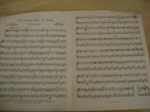 partitura - o maior espetáculo da terra - por g. gori