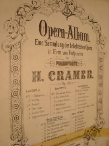 partitura opera fidelio para piano, h cramer.