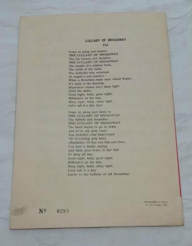 partitura p/ acordeon (m. mascarenhas) - lullaby of broadway