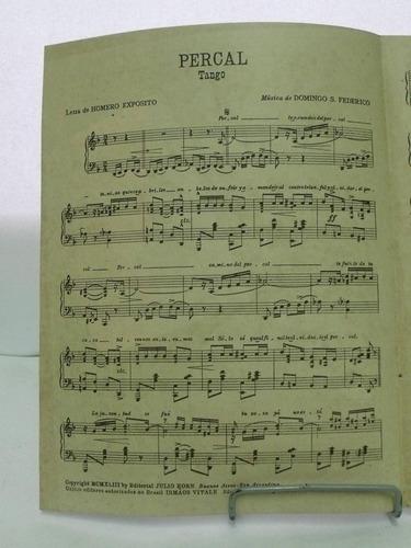 partitura percal tango domingos federico letra esposito pz8