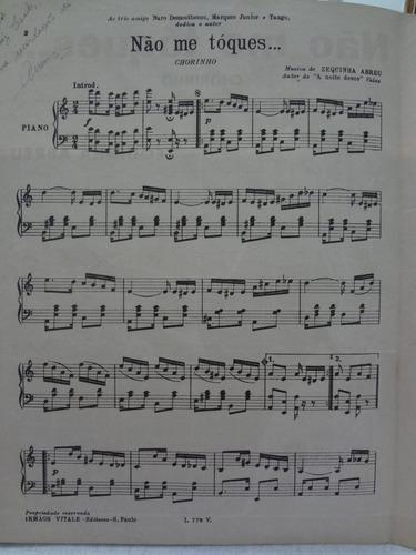 partitura piano chorinho  não me toques  zequinha abreu - l1