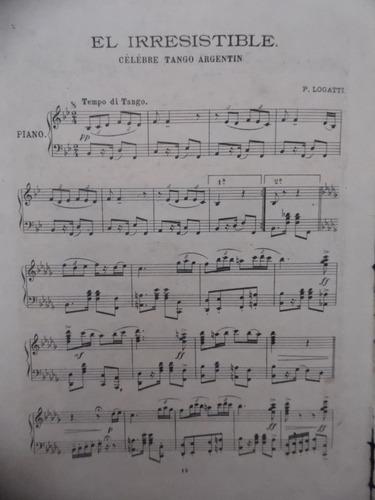 partitura piano  el irresistible  p logatti