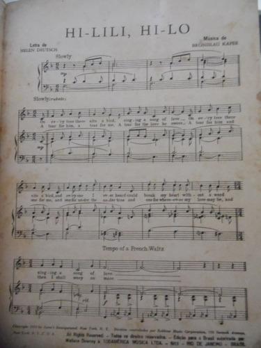 partitura piano - hi lili hi lo - bronislau kaper