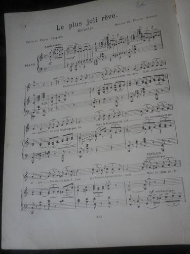 partitura piano le plus joli reve