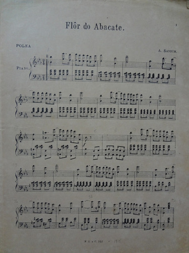 partitura piano polka   flôr do abacate  a sandim