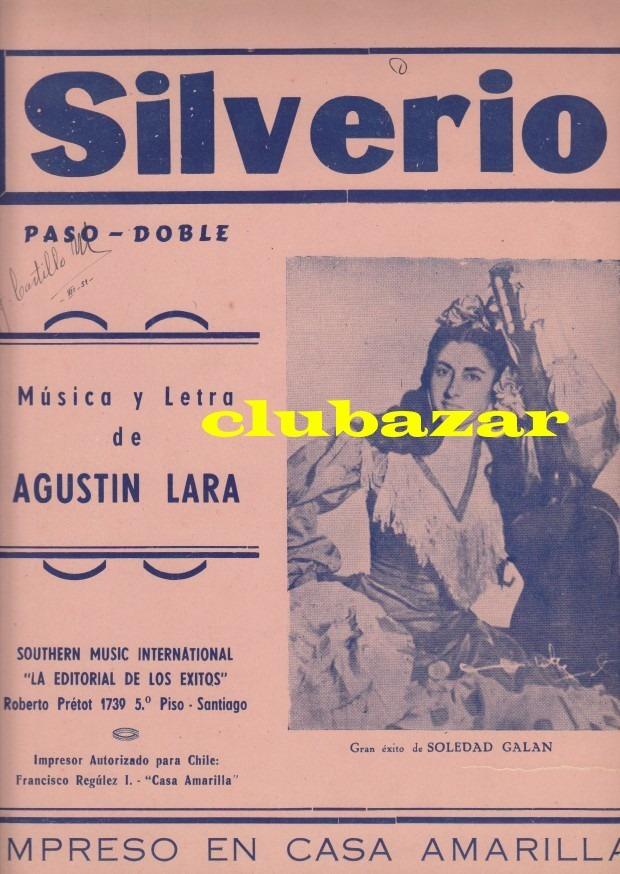 Partitura piano silverio paso doble musica agustin lara for Casa amarilla musica