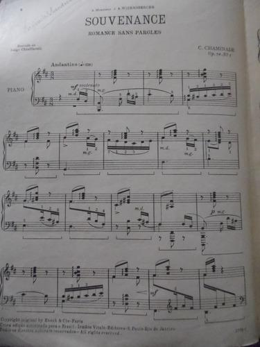 partitura piano - souvenance - c chaminade - l2