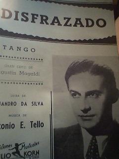 partitura piano tango disfrazado da silva y antonio e. tello