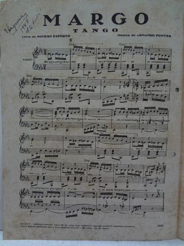 partitura piano tango - margo - armando pontier - l1