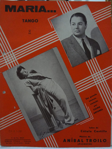 partitura piano tango - maria - anibal castilho pichuco - l1