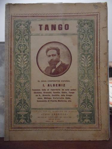partitura piano - tango op. 165 nº 2 i albeniz