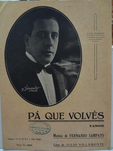 partitura piano tango - pá que volves  julio villamonte - l1