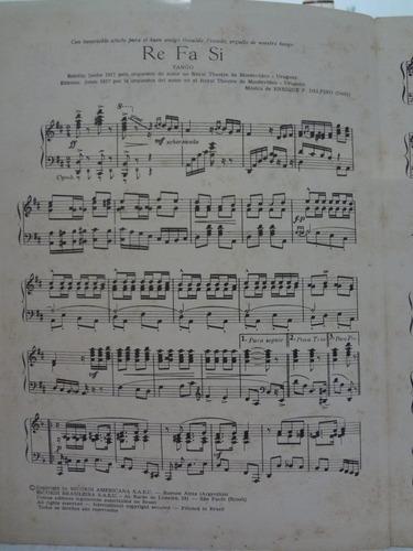 partitura piano tango re - fa - si  enrique p. delfino - l1