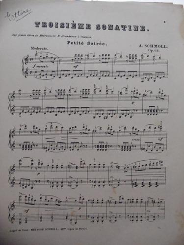 partitura piano  troisiéme sonatine  a schomoll