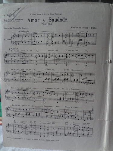 partitura piano valsa amor e saudade baptista junior  l1