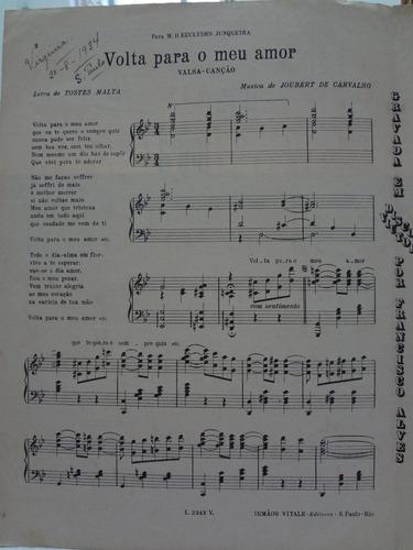 partitura piano volta para meu amor jouberi carvalho  - l1