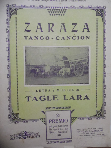 partitura piano  zaraza  tagle lara  tango