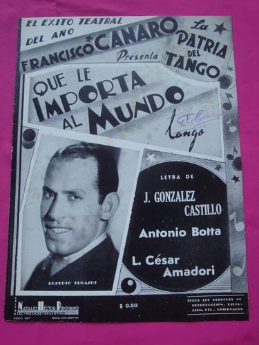 partitura que le importa al mundo francisco canaro tango