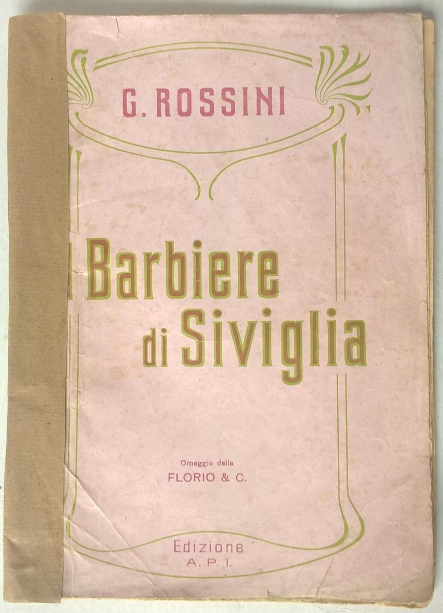 Partitura Rossini El Barbero De Sevilla Para Pianoforte 280 00