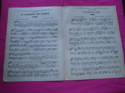 partitura se acabaron los otarios - tango - canaro caruso