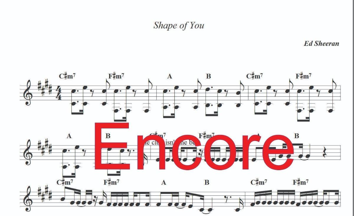 partituras no formato encore