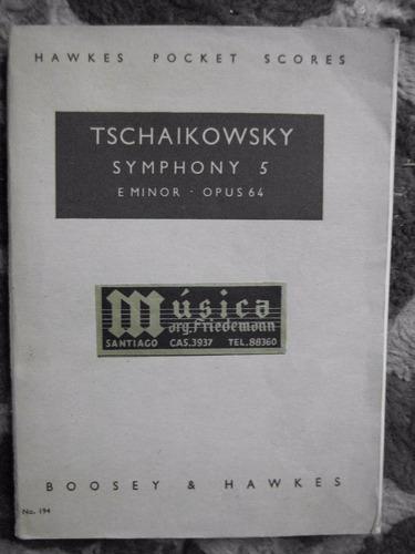 partitura sinfonìa 5 op. 64  tschaikowski