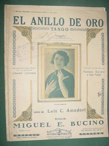 partitura tango anillo oro libertad lamarque amadori bucino