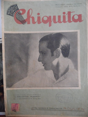 partitura tango chiquita  roulien filme irresistivel roberto