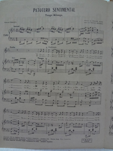 partitura tango - patotero sentimenta l manuel romero - l1