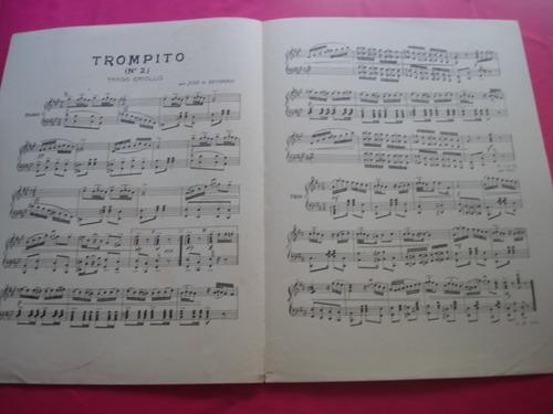 partitura - trompito n° 2 - tango criollo para piano
