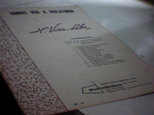 partitura vamos ver a mulatinha - h. villa lobos - piano