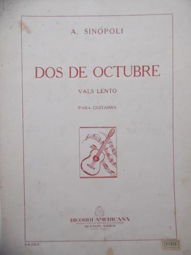 partitura violão - dos de octubre - a sinópoli