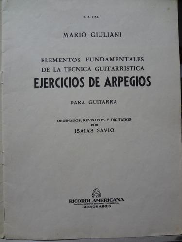 partitura violão ejercicios de arpegios mauro giuliani