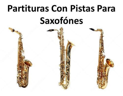 partituras con pistas para saxofónes
