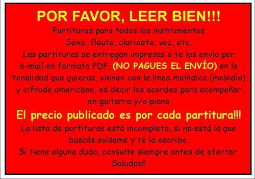 partituras de música brasilera. para todos los instrumentos