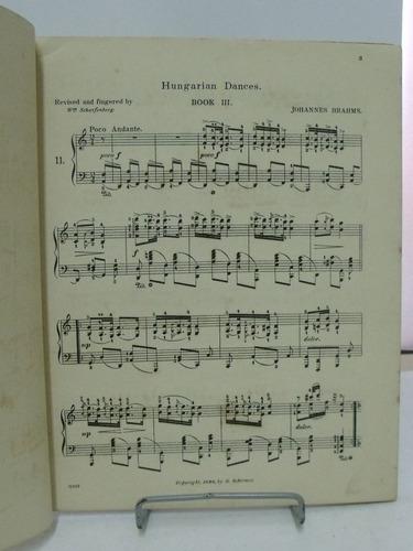 partituras  hungarian dances for pianoforte  brahms