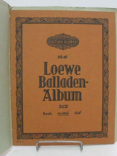 partituras - loewe balladen album - bd i i i mittel  nº49 l6