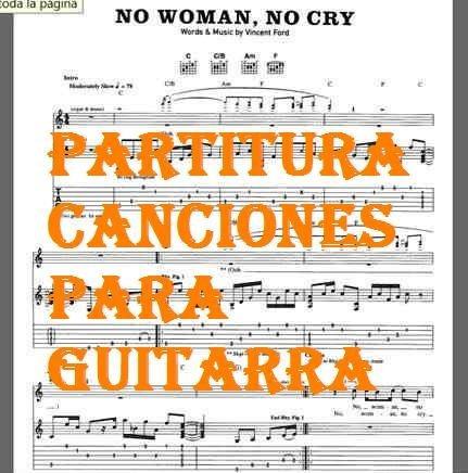 partituras notas musicales pa guitarra cancion heavy metal