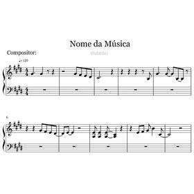 Partituras P/ Registrar - Compositores