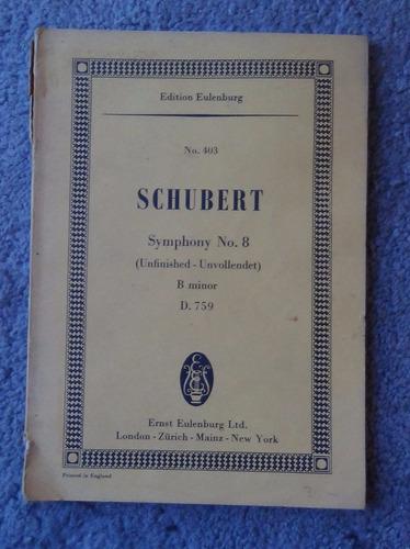 partituras schubert symphony no. 8 b minor op.759