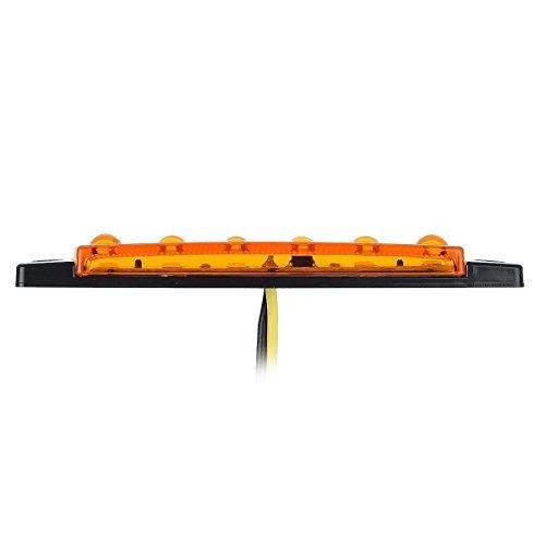 partsam 10 x 38 amber 12v marcador lateral delantero 6 led c