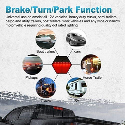 """Durable 15/""""12V 11LED Car Truck Trailer Tail Stop Brake Turn Light Bar Waterproof"""