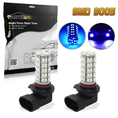 partsam 2x ultra blue 9140 9145 9050 h10 9005 bombillas led