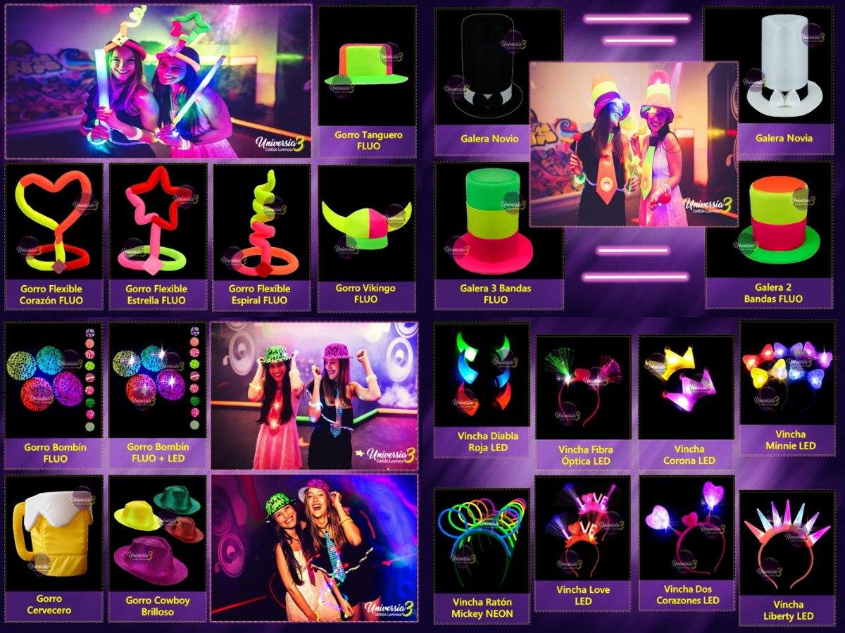 Party 500 Art. Combo Cotillon Luminoso Led Neon Fluo Carioca ... d3e731c6b69