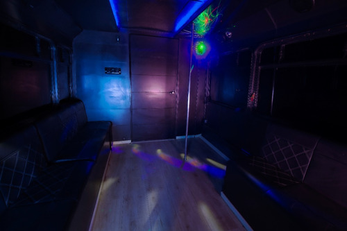 party bus, ford e450 2010, gasolina/gas.